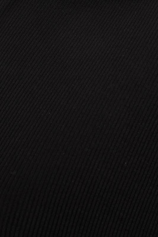 Black Ribbed V-Neck Polo Top_S.jpg