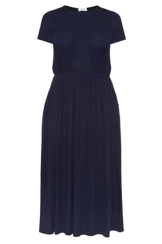 YOURS LONDON Navy Pocket Maxi Dress_157051F.jpg
