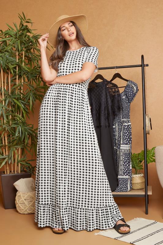 LTS Black Gingham Tiered Maxi Dress_L.jpg