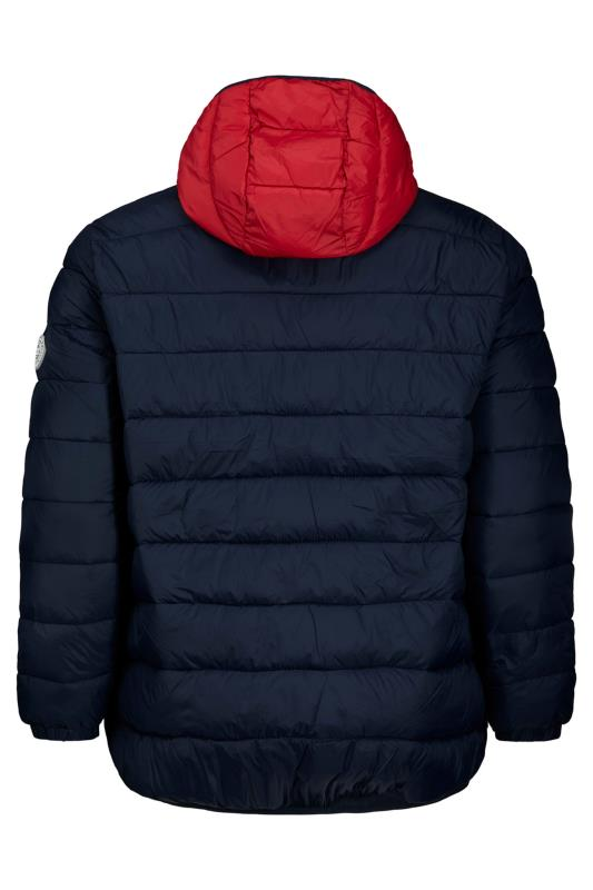 JACK & JONES Navy Colour Block Magic Puffer Coat