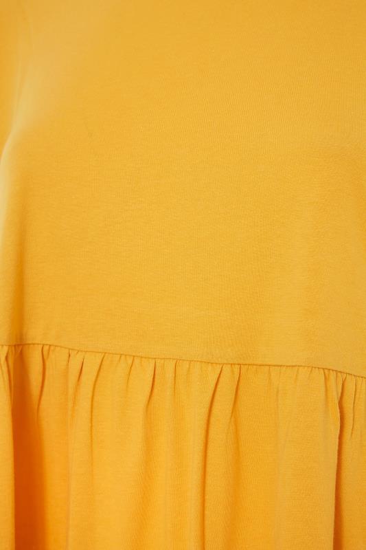 Yellow Peplum Drop Shoulder Top_S.jpg