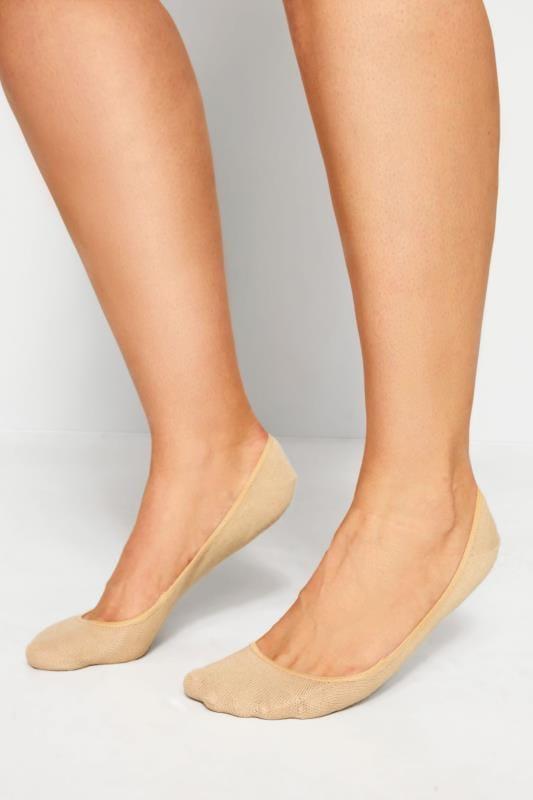 2 PACK Black & Nude Footsie Socks