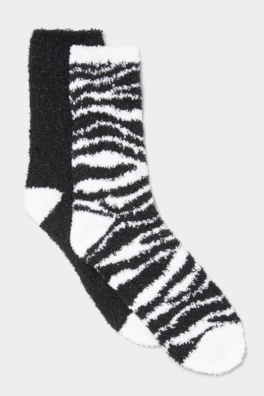 2er Pack Kuschelsocken mit Zebra-Muster