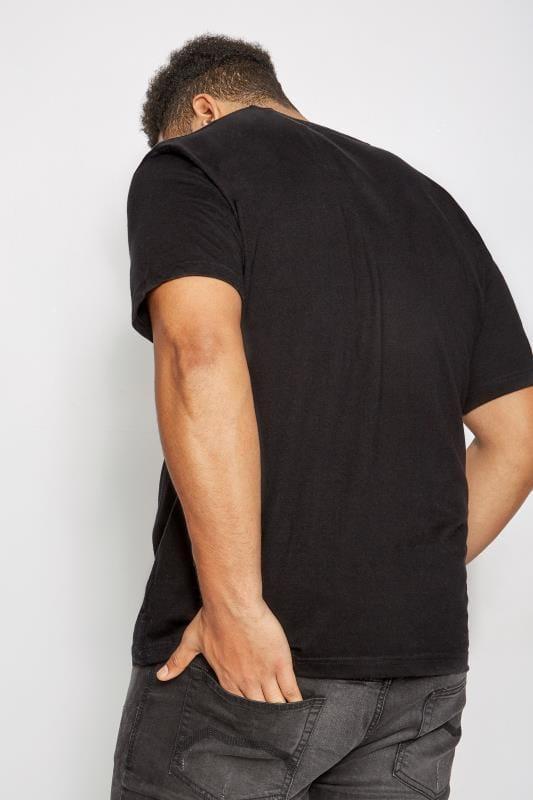 2 PACK BadRhino Black Crew Neck Basic T-Shirt