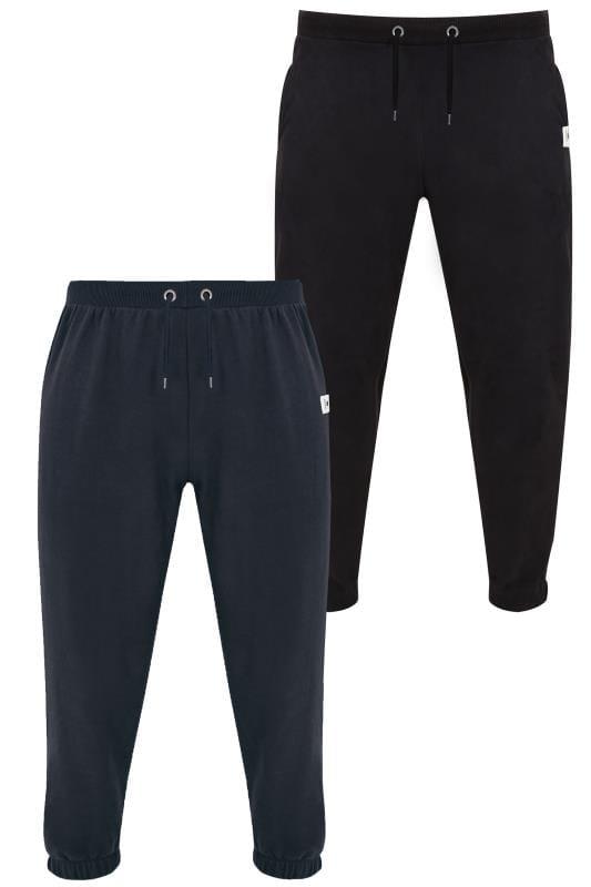 2 PACK BadRhino Black & Navy Basic Sweat Joggers With Pockets