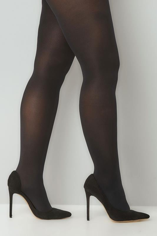 Plus Size Tights 2 PACK Black 100 Denier Tights