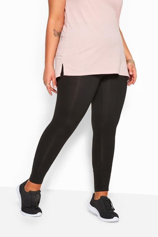 2 PACK - zwarte viscose leggings