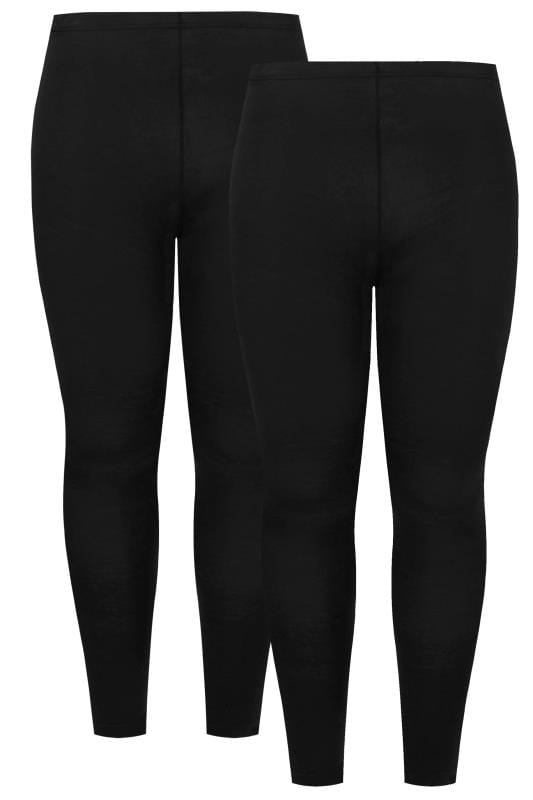 2 PACK Black Soft Touch Viscose Leggings