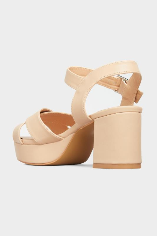 LIMITED COLLECTION Nude Platform Heeled Sandals In Extra Wide Fit_C.jpg