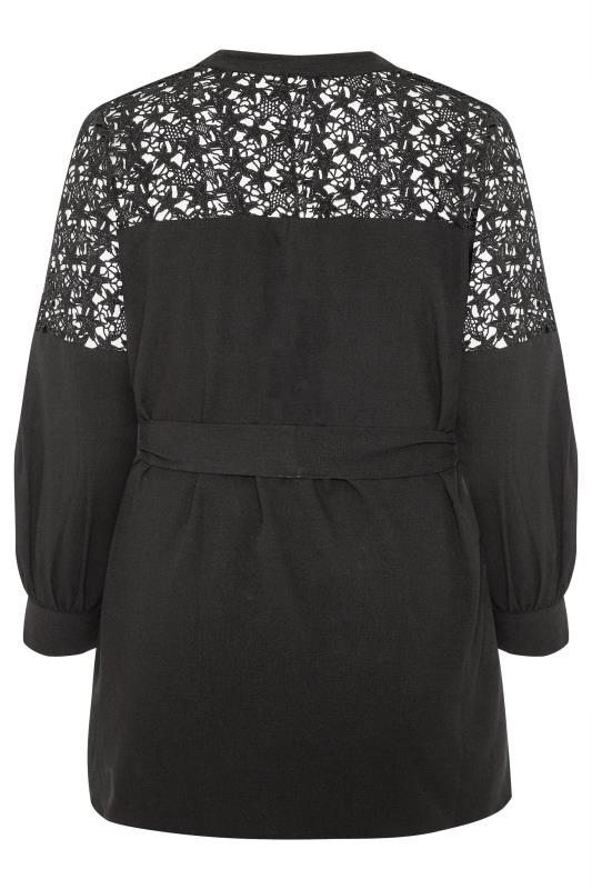 LIMITED COLLECTION Black Star Lace Belted Blouse
