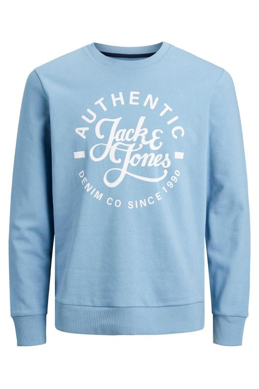 JACK & JONES Blue Hero Logo Sweatshirt