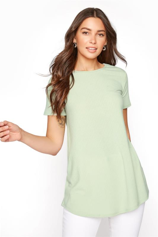 Tall  LTS Sage Green Rib Swing Top