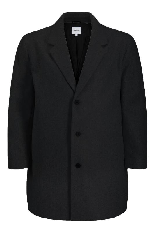 Men's Coats JACK & JONES Black Liam Single Breasted Long Coat