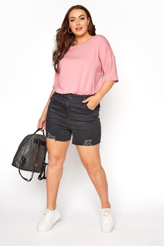 Black Cut Off Distressed Denim Shorts_C.jpg