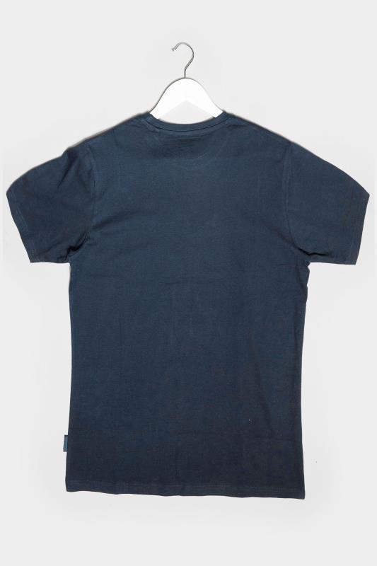 BadRhino Navy American Classic Car Graphic Print T-Shirt