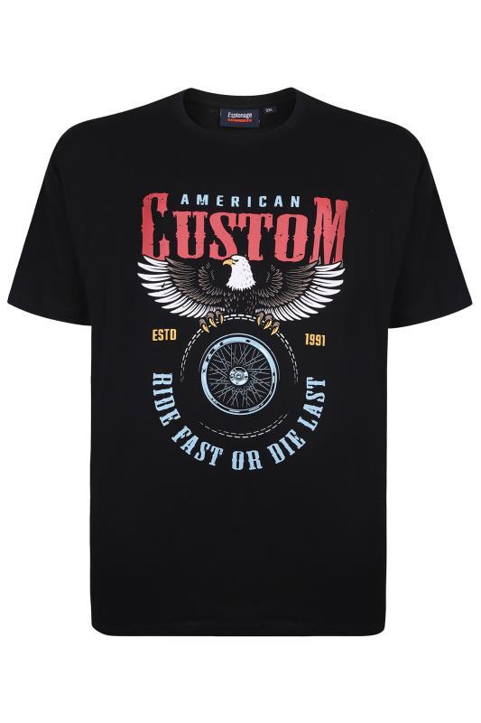 Großen Größen Casual / Every Day ESPIONAGE Black American Custom Graphic Print T-Shirt