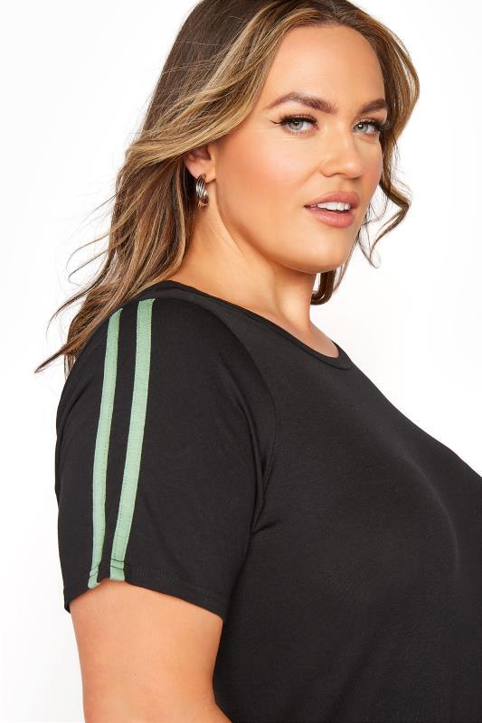 BUMP IT UP MATERNITY Black Stripe T-shirt & Shorts Set_E.jpg