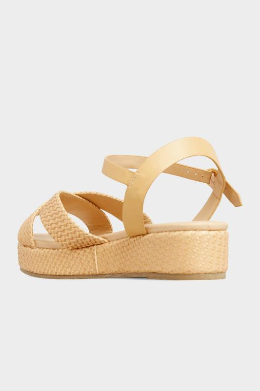 LIMITED COLLECTION Tan Weave Platform Sandal In Extra Wide Fit_C.jpg