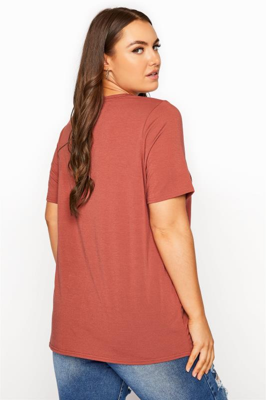 LIMITED COLLECTION Rust Heart Print T-Shirt_C.jpg