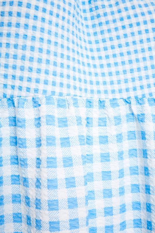 Blue Contrast Gingham Tiered Vest_S.jpg