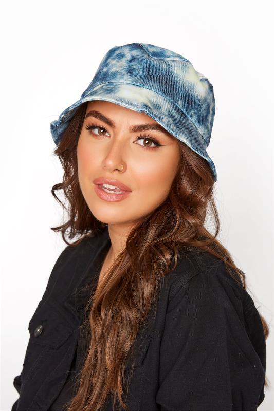 Plus Size  Blue Tie Dye Bucket Hat