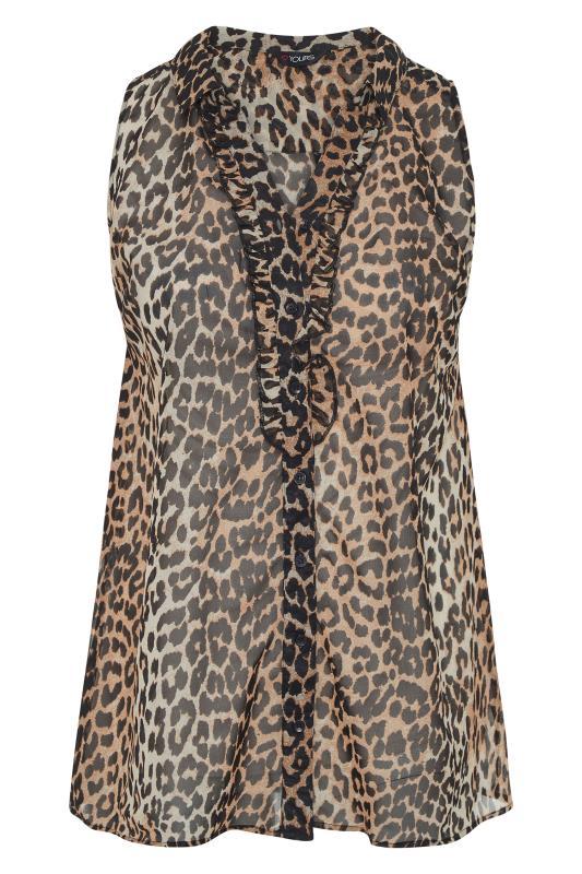 Leopard Print Frill Front Sleeveless Shirt_F.jpg