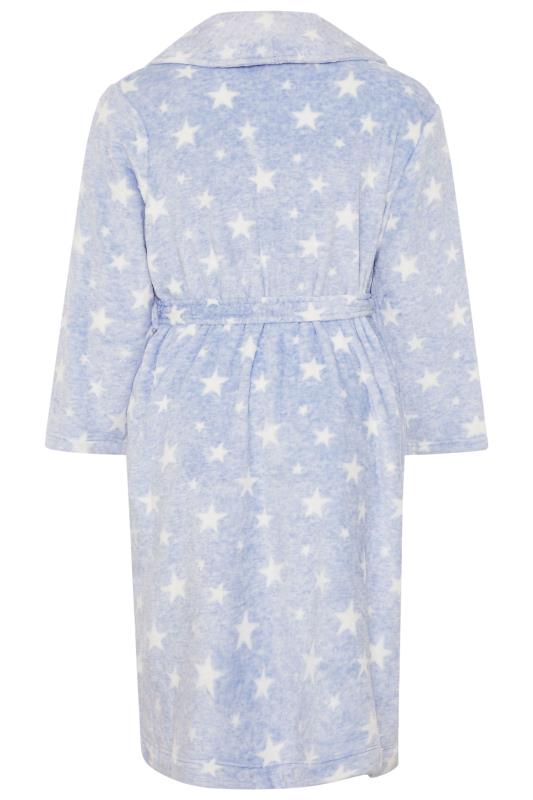 Blue Star Print Dressing Gown