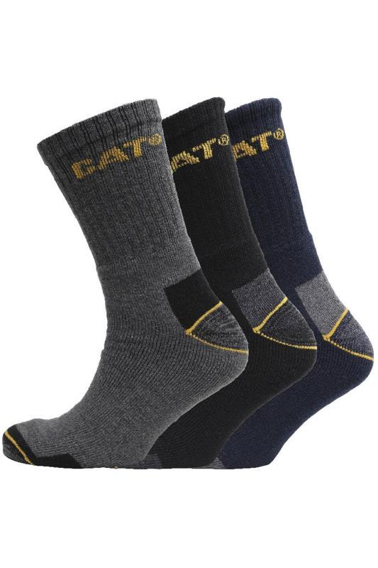CATERPILLAR 3 PACK Multi Assorted Work Socks