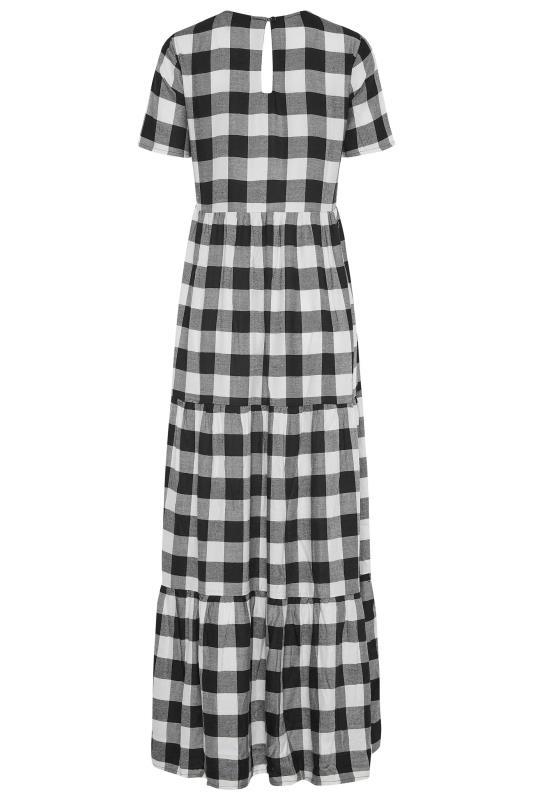 LTS Black Check Tiered Midaxi Dress_BK.jpg