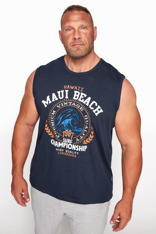 Men's  BadRhino Navy Maui Beach Muscle Vest