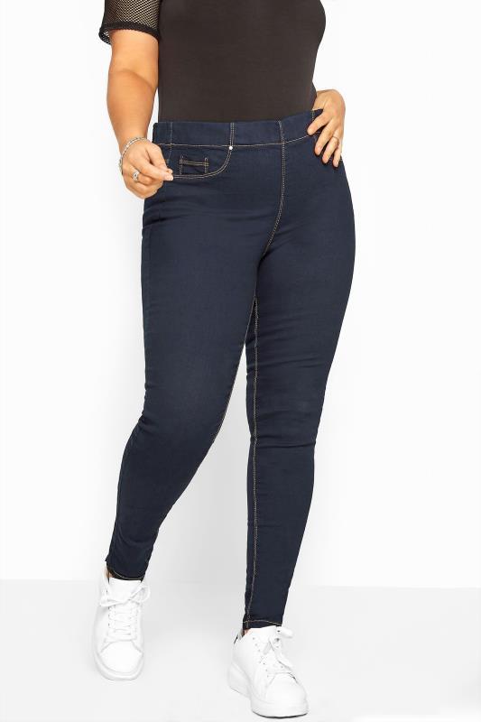 Plus Size Jeggings Indigo Blue Pull On JENNY Jeggings