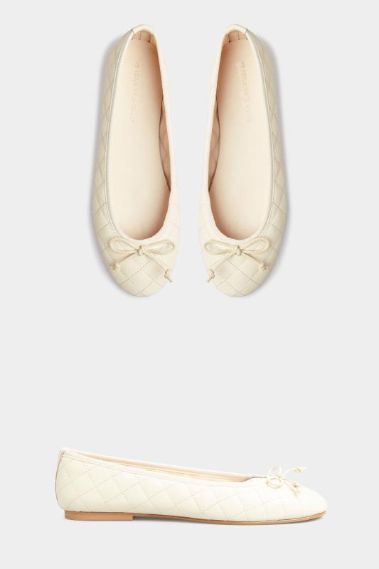 LTS White Leather Quilted Ballet Pumps_A.jpg
