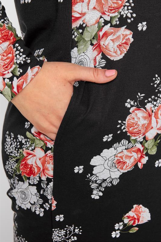 Black Floral Print Hoodie Dress_D.jpg