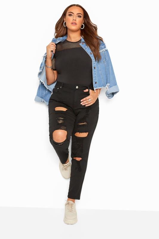 Black Distressed Ripped Skinny AVA Jeans