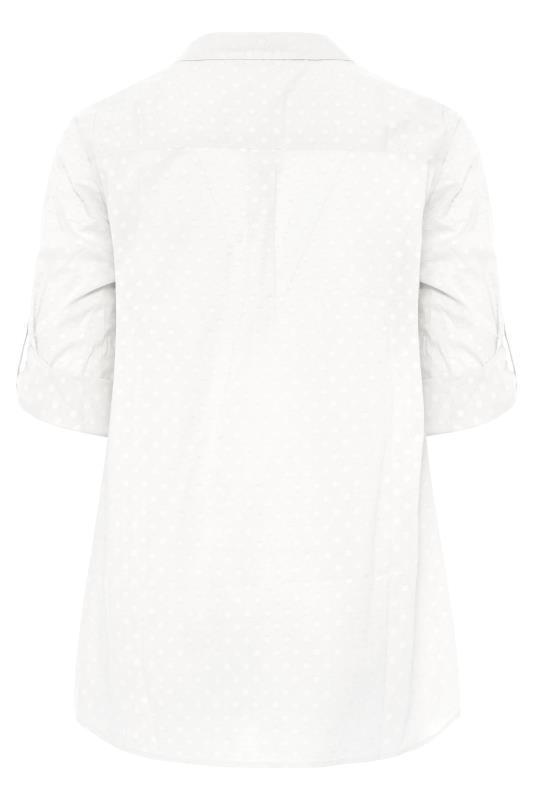 White Dobby Boyfriend Shirt_BK.jpg