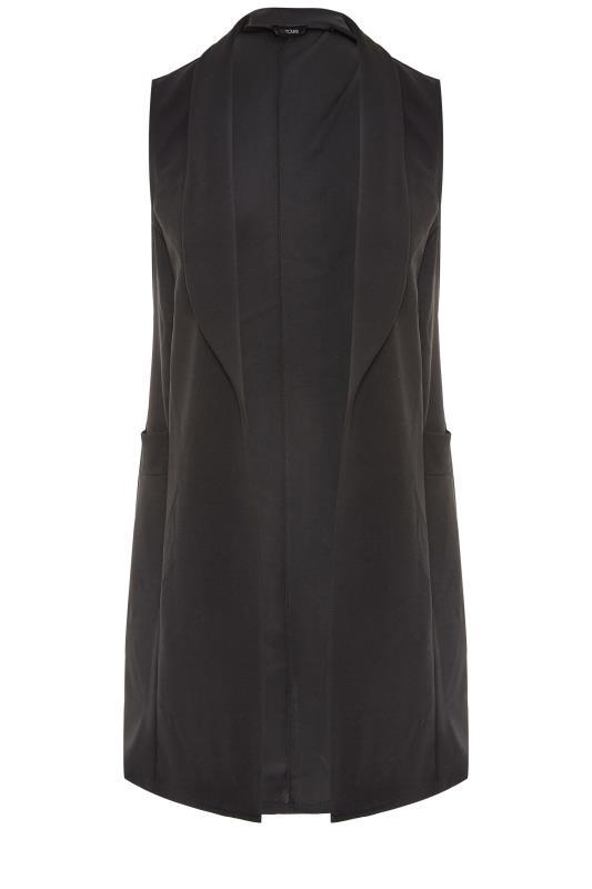 Plus Size  Black Sleeveless Blazer