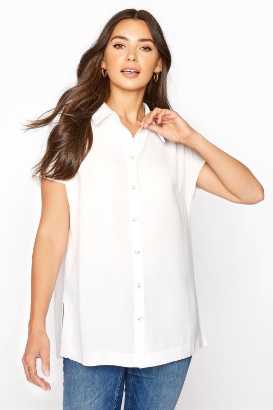 LTS White Button Through Shirt