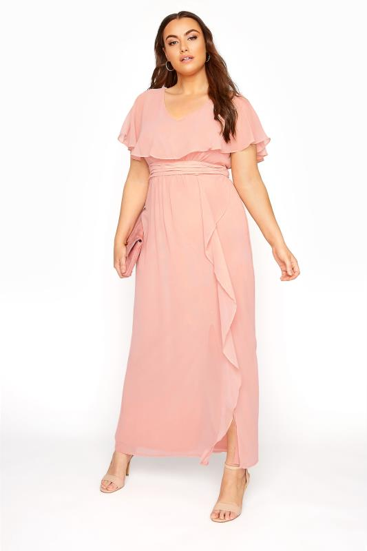 Pink Angel Sleeve Maxi Dress_B.jpg