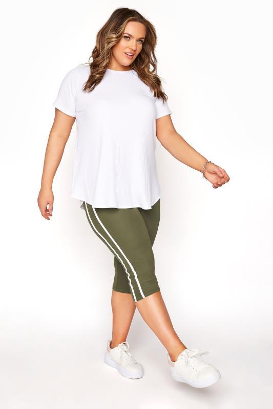 Khaki Side Stripe Cropped Leggings_B.jpg