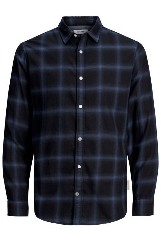 JACK & JONES Navy Long Sleeve Check Shirt