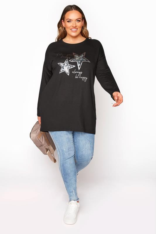 Black 'Follow Your Dreams' Slogan Sweatshirt_B.jpg