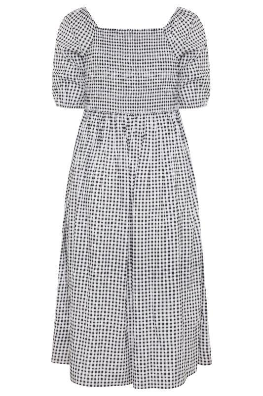 Black Gingham Shirred Midaxi Dress_BK.jpg
