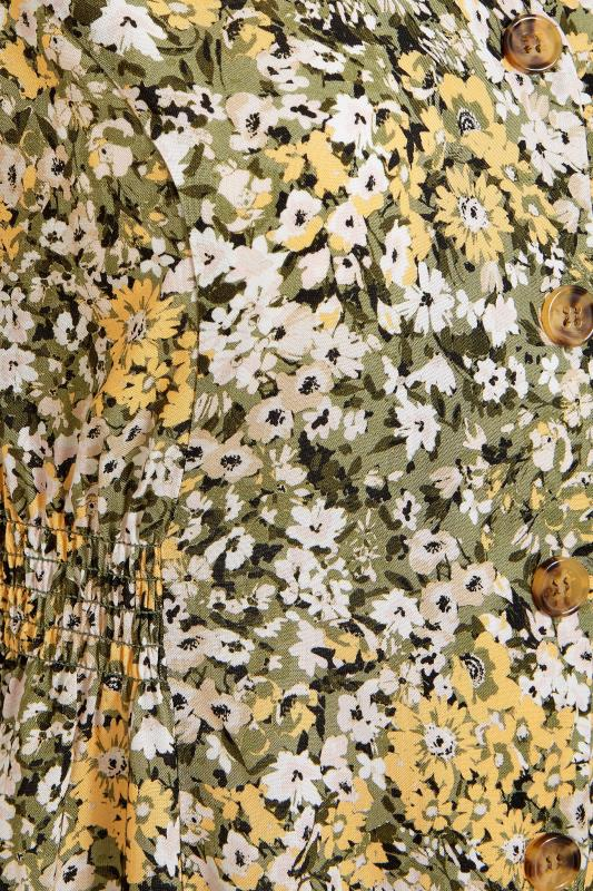 YOURS LONDON Green Floral Button Through Midi Dress_s.jpg