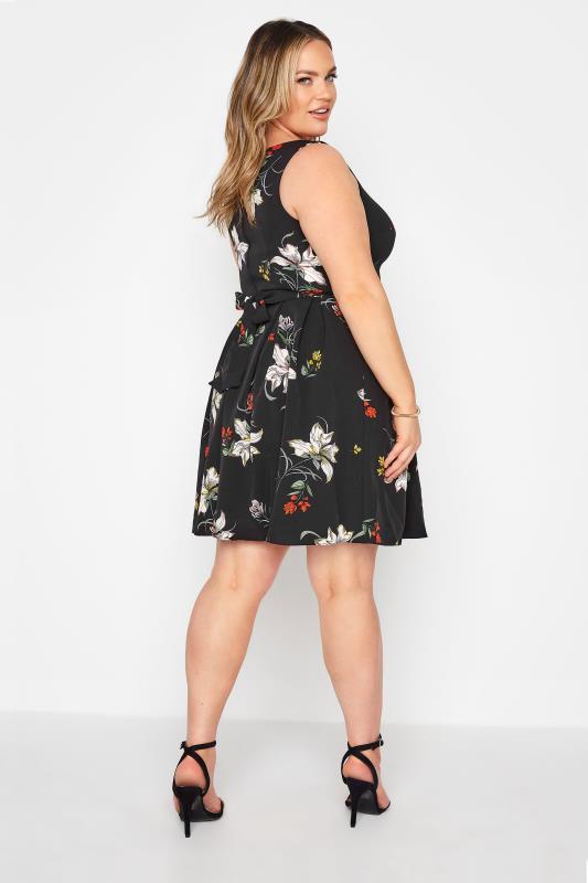 Black Floral Print Skater Dress_C.jpg
