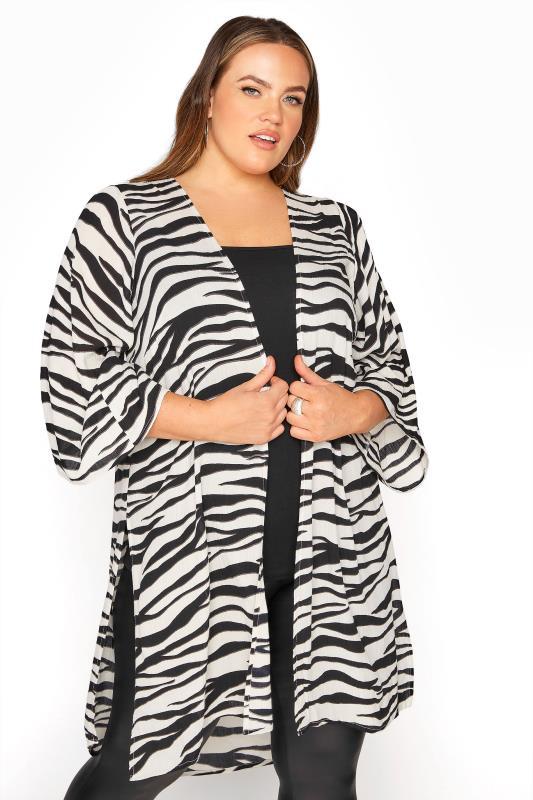 Plus Size  LIMITED COLLECTION Multi Zebra Print Kimono