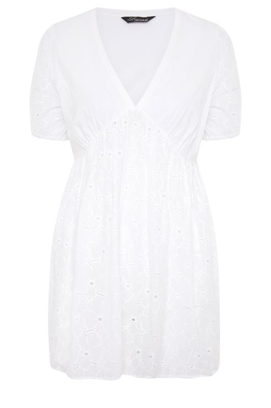 LIMITED COLLECTION White Anglaise Peplum Top_F.jpg