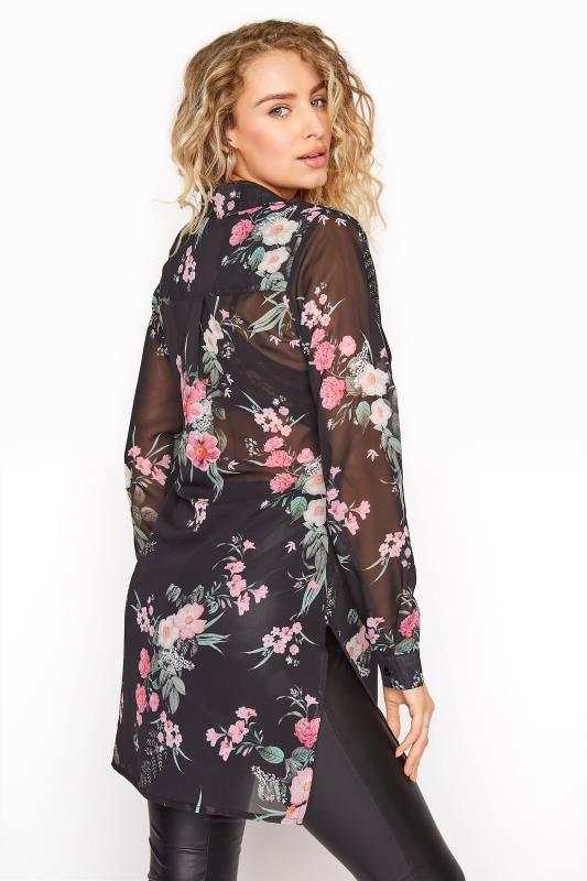 LTS Black Mixed Floral Longline Chiffon Shirt_C.jpg