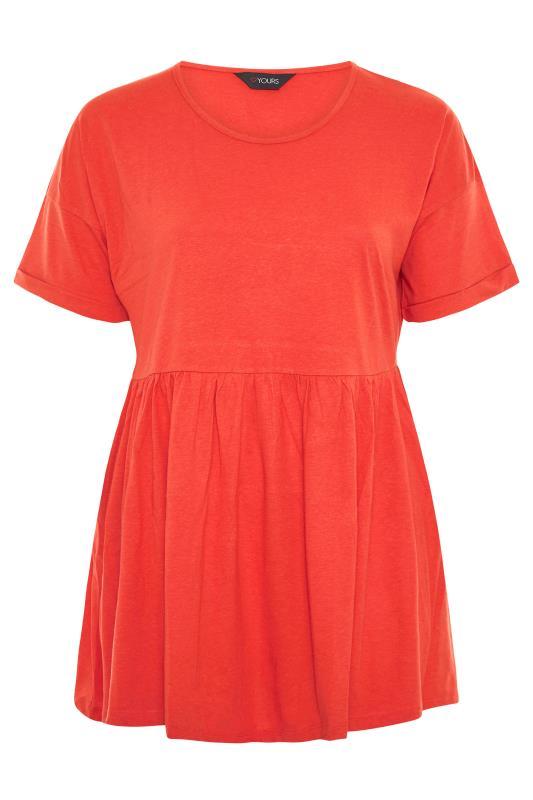 Orange Peplum Drop Shoulder Top_F.jpg