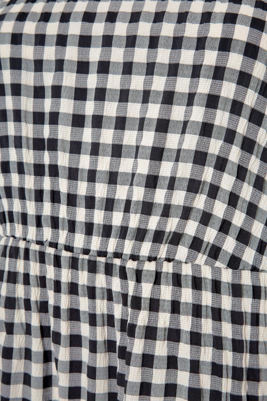 THE LIMITED EDIT Black Gingham Smock Midi Dress_S.jpg