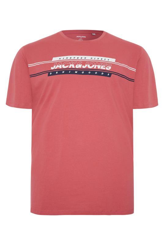 Men's  JACK & JONES Dusky Pink Art Logo T-Shirt